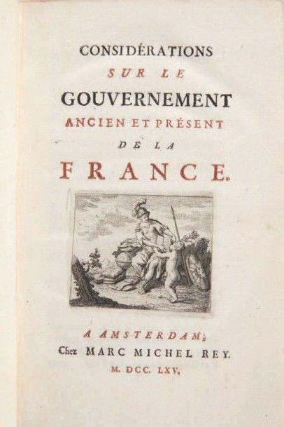 [D'ARGENSON (Louis-René de Voyer de Paulmy, comte)]
