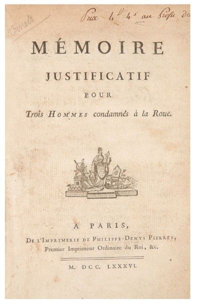 [AFFAIRES JUDICIAIRES DU XVIIIe SIÈCLE]....