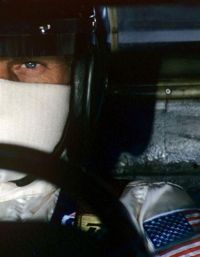 Reporters Associati Steve McQueen sur le set du film «Les 24 heures du Mans», 1971...