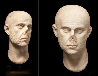 Portrait présumé de l'empereur Aurélien. Empereur de 270 à 275 ap. J.-C. Le visage...