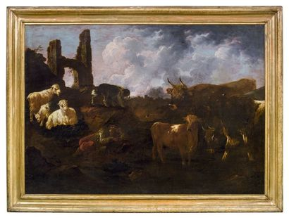 PHILIPP PETER ROOS DIT ROSA DA TIVOLI (FRANCFORT-SUR-LE-MEIN 1657-ROME 1706)