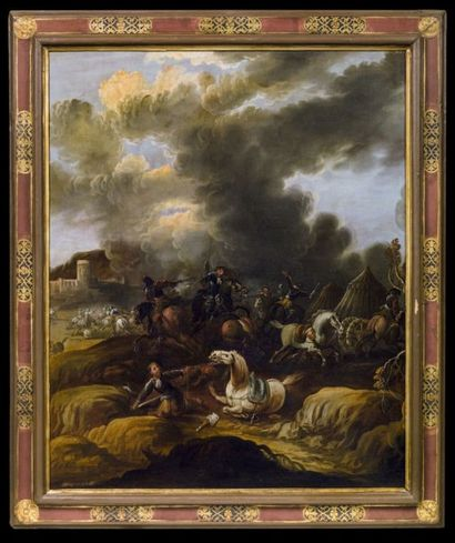FRANCESCO MONTI DIT BRESCIANINO DELLE BATTAGLIE (BRESCIA 1646-PARME 1712)