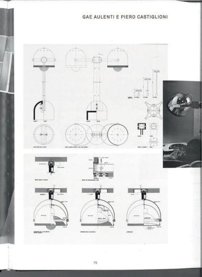 GAE AULENTI (1927-2012) & PIERO CASTGLIONI (NÉ EN 1944) Italie Plafonnier modèle...