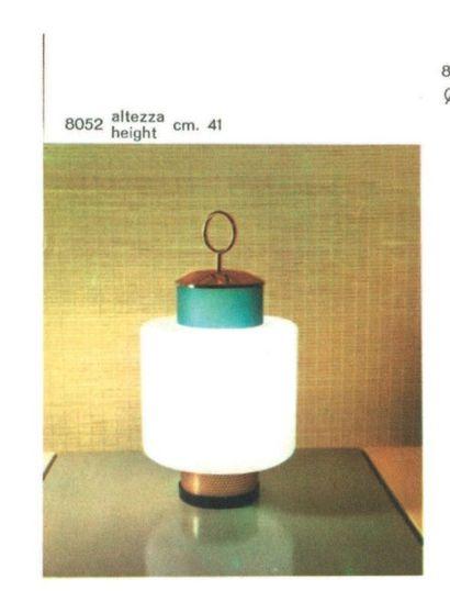 STILNOVO FONDÉ PAR BRUNO GATTA EN 1946 Italie Lampe de table Laiton, métal laqué...