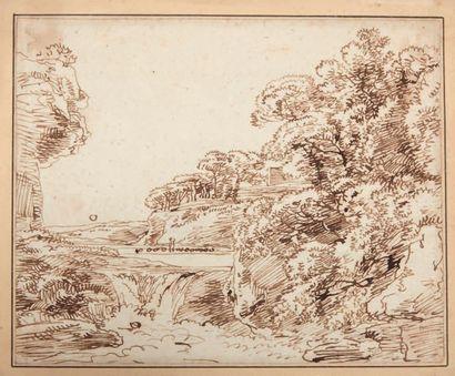 Attribué à Ferdinand KOBELL (Mannheim 1740 - Munich 1799)