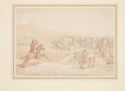 ATTRIBUÉ À ARTHUR ABBOTT (ANGLETERRE, 1804 - 1843)