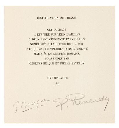 BRAQUE (Georges) - (Pierre) REVERDY