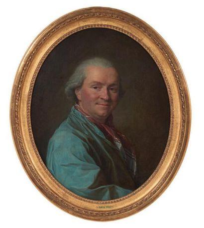 ATTRIBUÉ À ANNA DOROTHEA VON LISIEWSKA TERBUSCH (1721 - 1782) Portrait d'homme Toile...