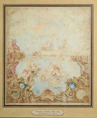 Ecole FRANCAISE du XVIIIe siècle, suiveur d'Antoine COYPEL Le triomphe de l'Amour...