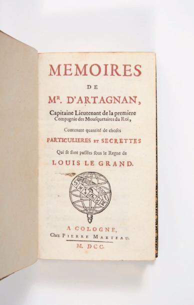 [COURTILZ DE SANDRAS (Gatien de)] Memoires de MR. D'Artagnan, Capitaine Lieutenant...