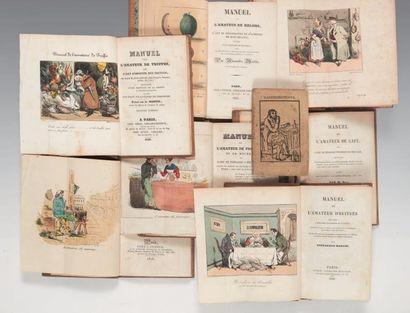 [GASTRONOMIE]. Ensemble de 7 volumes. 1827-1829....
