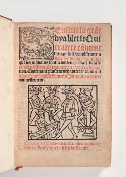 AMERVAL (Eloy d') Sensuit la grant dyablerie Qui traicte comment sathan fait demonstrance...