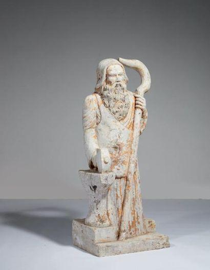 SAINT GALMIER en pierre calcaire sculptée...