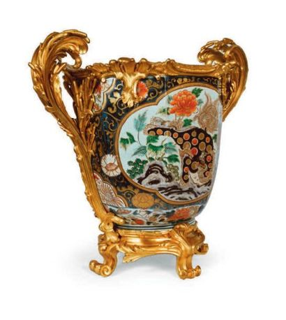 CACHE-POT en porcelaine de Samson à l'imitation...