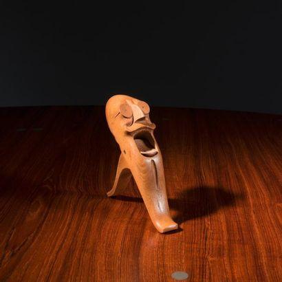 KAY BOJESEN (1886-1958) Danemark Rare casse-noix à l'effigie du premier ministre...