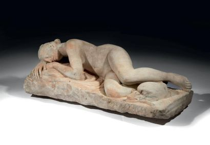 Vénus marine en marbre sculpté en très haut...