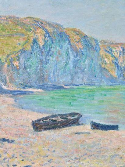 Claude monet (1840-1926) Plage et falaises de Pourville, 1882 Huile sur toile. Signée...