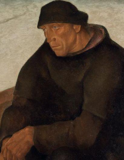 Anto Carte (1886-1954) Le solitaire Huile sur panneau. Signée en bas à gauche. H_79...