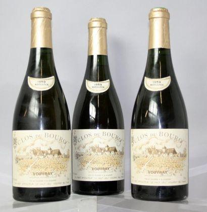 3 BOUTEILLES VOUVRAY Moelléux «Clos du Bourg»...