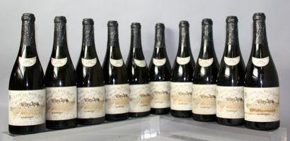 10 BOUTEILLES VOUVRAY Moelléux «Clos du Bourg»...