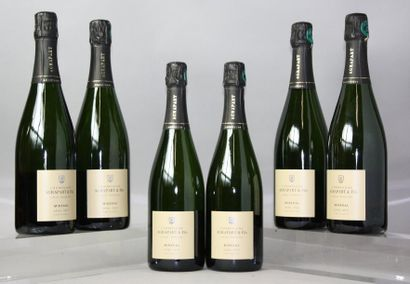 6 BOUTEILLES CHAMPAGNE AGRAPART BRUT MINERAL...