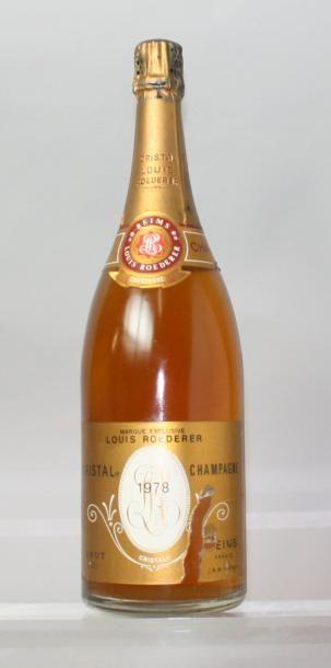 1 MAGNUM CHAMPAGNE CRISTAL DE ROEDERER 1978...