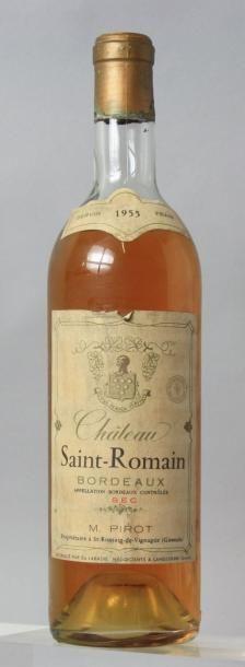 1 bouteille CHÂTEAU SAINT ROMAIN Blanc sec...