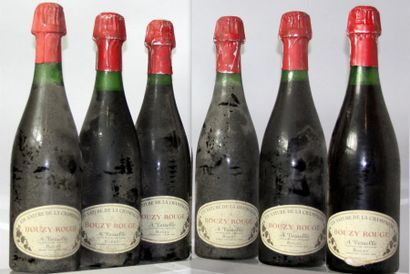 6 bouteille BOUZY DOMAINE VESSELLE - VIN NATURE de CAHMPAGNE