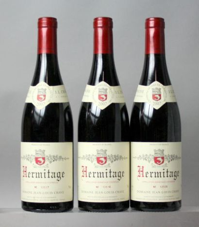 3 bouteilles HERMITAGE ROUGE - J. L. CHAVE 2007