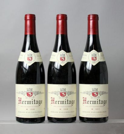 3 bouteilles HERMITAGE ROUGE - J. L. CHAVE...