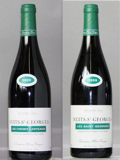 Lot de 2 bouteilles NUITS St. GEORGES - DOMAINE...