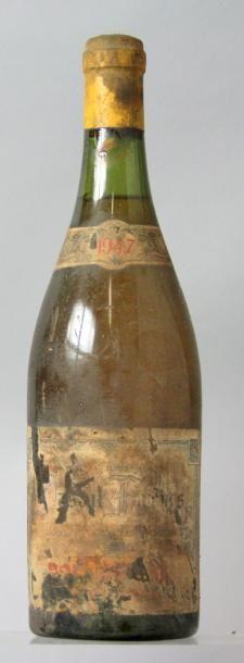 1 bouteille BOURGOGNE Blanc - Anc. établissement...