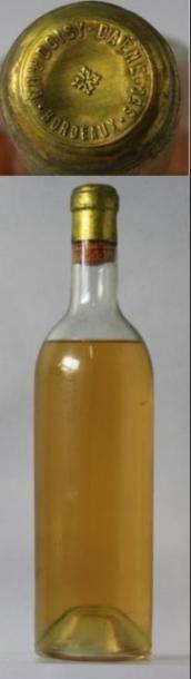 1 bouteille CHÂTEAU DOISY DAÊNE 2éme GC - Sauternes 1955 Etiquette manquante, niveau...