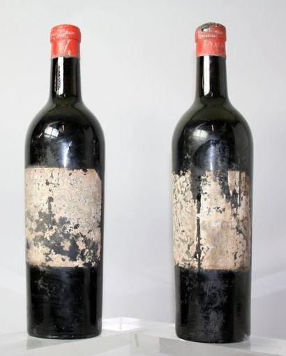 2 bouteilles CHÂTEAU LYNCH BAGES 5éme GCC...