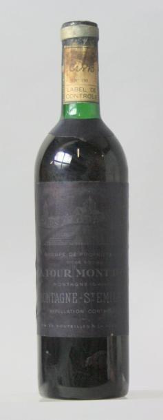 1 bouteille CHÂTEAU LA TOUR MONT D'OR - Montagne...