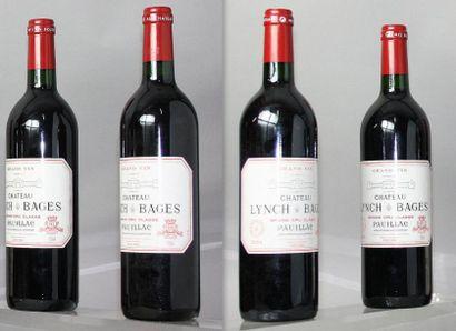 4 bouteilles CHÂTEAU LYNCH BAGES 5éme GCC...