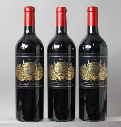 3 bouteilles CHÂTEAU PALMER 3éme GCC - Margaux...