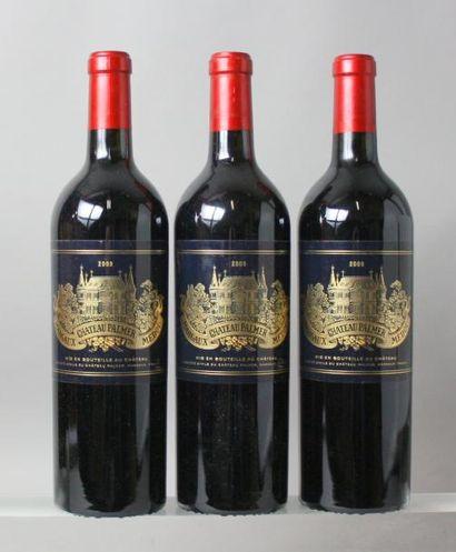 3 bouteilles CHÂTEAU PALMER 3éme GCC - Margaux 2009