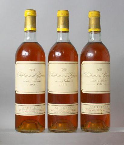 3 bouteilles CHÂTEAU D'YQUEM 1er GC superieur...