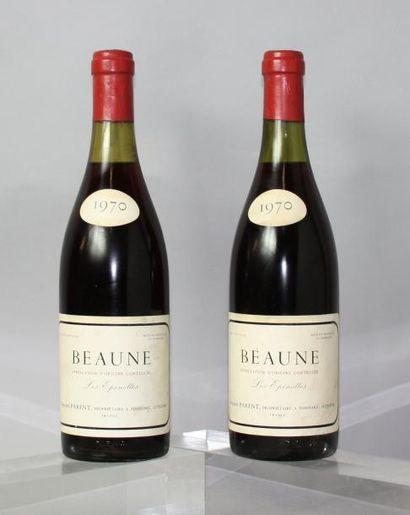 2 bouteilles BEAUNE 1er cru