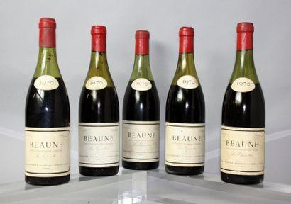 5 bouteilles BEAUNE 1er cru