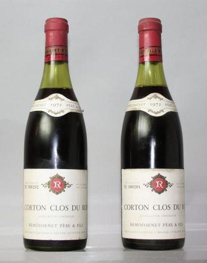 2 bouteilles CORTON CLOS DU ROI Grand cru...