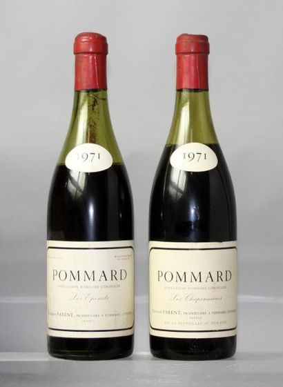 Lot de 2 bouteilles POMMARD DOMAINE PARENT...