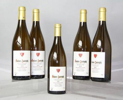 Lot 5 bouteilles SAINT JOSEPH BLANC
