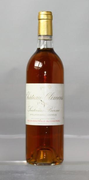 1 bouteilles CHÂTEAU CLIMENS 1er cru - Sauternes...