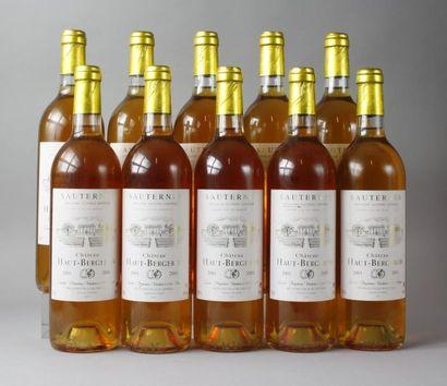 10 à bouteilles CHÂTEAU HAUT BERGERON - Sauternes...