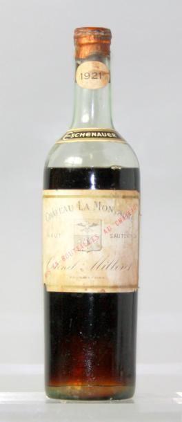 1 bouteilles CHÂTEAU LA MONTAGNE - SAUTERNES...