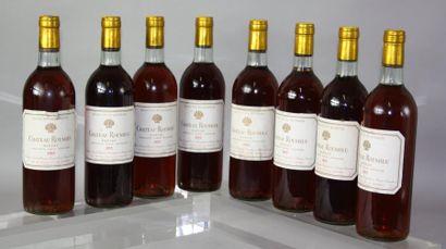 8 bouteilles CHÂTEAU ROUMIEU GC - Sauternes...
