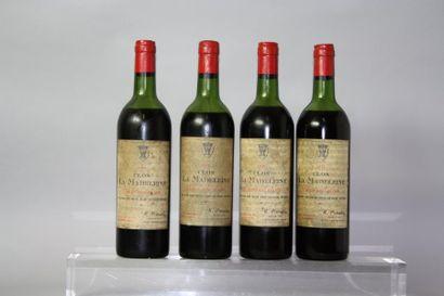 4 bouteilles CLOS La MADELEINE GC - St. Emilion...