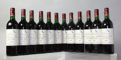 12 bouteilles LA DEMOISELLE DE SOCIANDO MALLET...